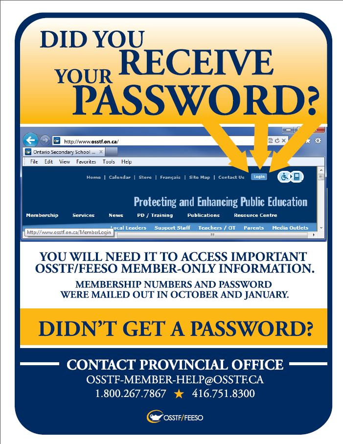 Poster - Did You Receive Your Password?