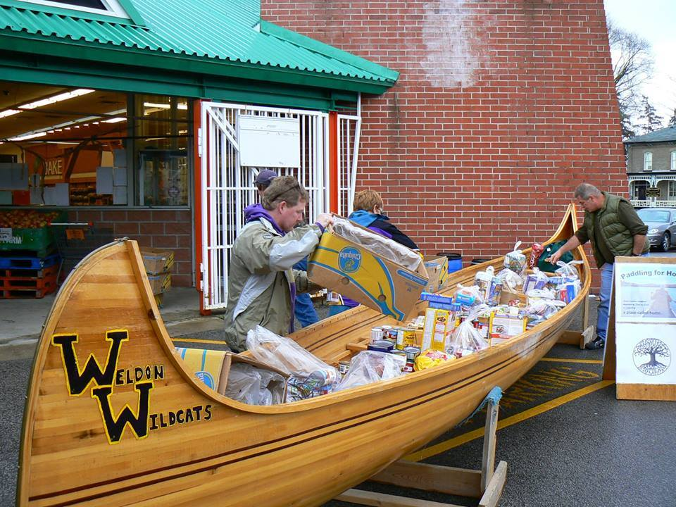 Paddling for Home - IEW members collect food donations for A Place Called Home